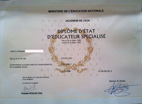 exemple de vae educateur specialise