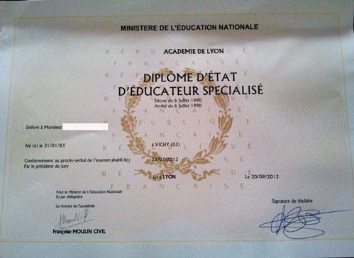 VAE Diplôme educateur spécialisé